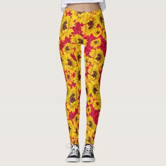 Sunflower red leopard print leggings