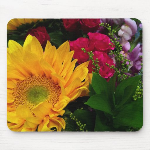 Sunflower Reflections Mouse Pad