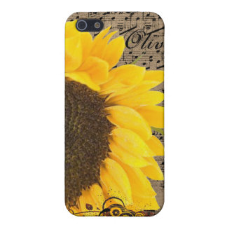 Sunflower Retro Swirls Parchment iPhone iPhone 5/5S Covers