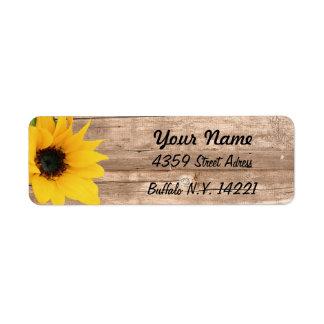 Sunflower Return Address Return Address Label
