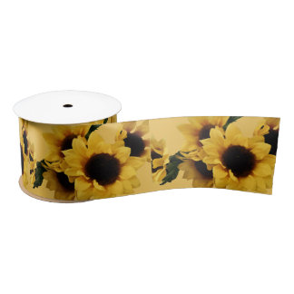 Sunflower Ribbon Satin Ribbon
