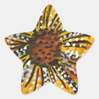sunflower riot star sticker