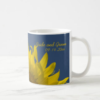 Sunflower Rising Wedding Coffee Mug
