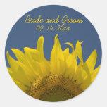 Sunflower Rising Wedding Envelope Seals Round Sticker
