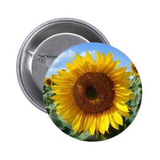 Sunflower Round Badge
