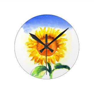 Sunflower Round Clock