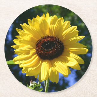 Sunflower Round Paper Coaster