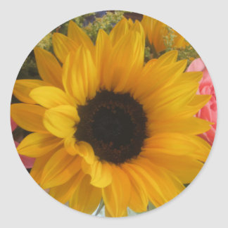 Sunflower Round Sticker