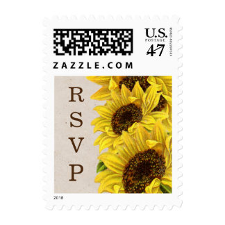 Sunflower RSVP Postage