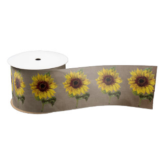 Sunflower Rustic Country Wedding Gift Ribbon Satin Ribbon