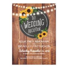 Sunflower Rustic String Lights Wedding Reception