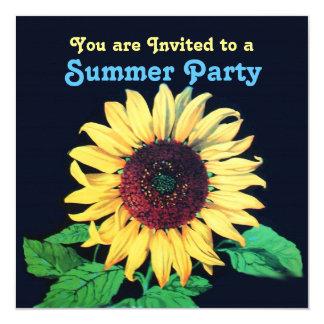 SUNFLOWER Rustic Wedding Summer Party Invitation