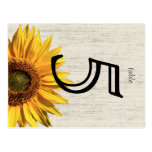 Sunflower Rustic Wedding Table Card Post Cards