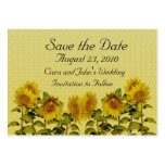 Sunflower Save the Date Card Business Card
