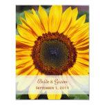 Sunflower Save The Date Card Custom Invites