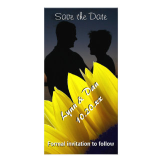 Sunflower Save the Date Customised Photo Card