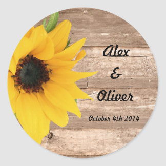 Sunflower Save the date envelope sticker