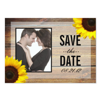 Sunflower Save the Date invitation