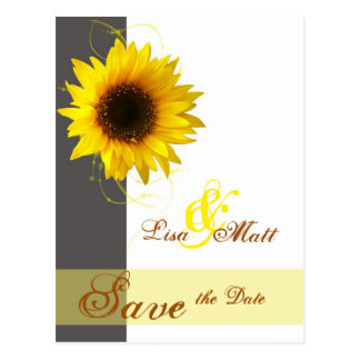 Sunflower  Save, the Date Postcard