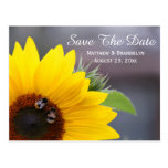 Sunflower Save The Date Wedding Post Card