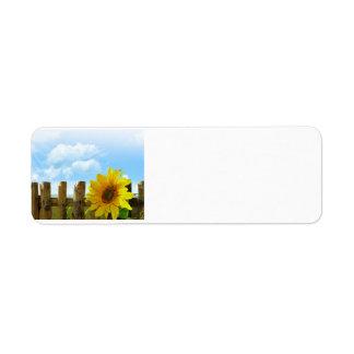 Sunflower Scene Return Address Label