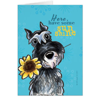 Sunflower Schnauzer Cheer Up Greeting Card