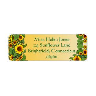 Sunflower Scroll
