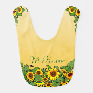 Sunflower Scroll Bib