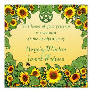 Sunflower Scroll Handfasting Invitation