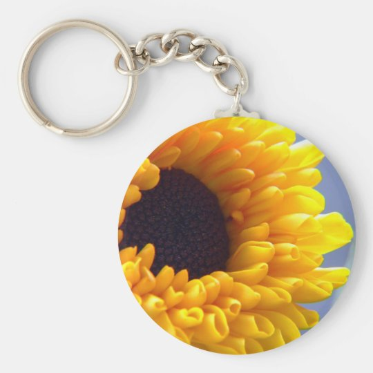 Sunflower Seasonal Inspirationals Basic Round Button Key Ring