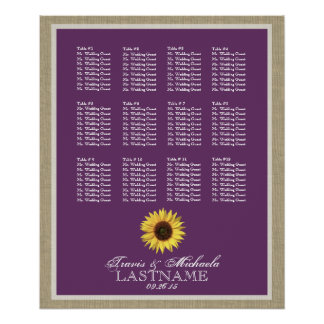 Sunflower Seat Chart with Changeable Color