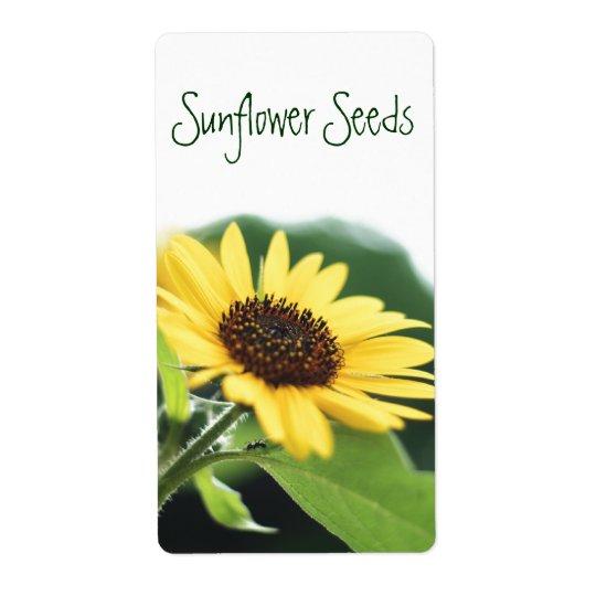 Sunflower Seeds Label