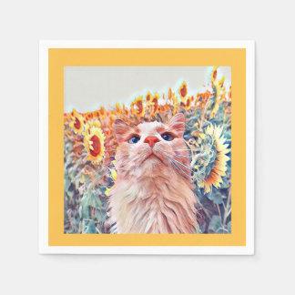 Sunflower Sentinel Paper Napkins