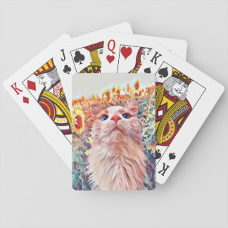 Sunflower Sentinel Playing Cards