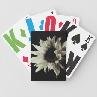 Sunflower - Sepia Fine Art Bicycle Playing Cards
