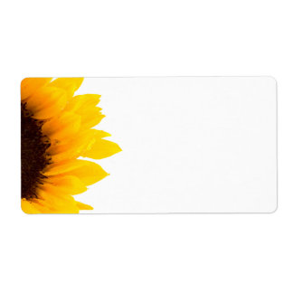 Sunflower Shipping Labels