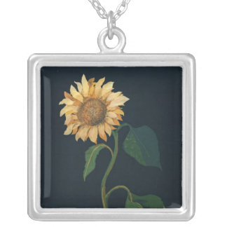 Sunflower Silver Plated Necklace