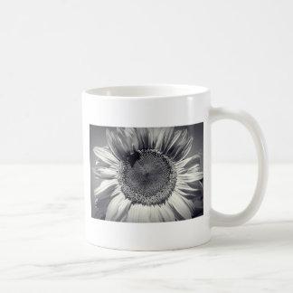 Sunflower Simple Basic White Mug
