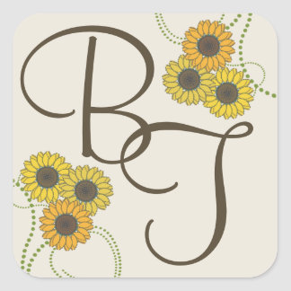 Sunflower Simplicity Square Sticker