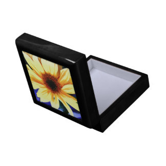 "Sunflower Small 5.125"" Square w/4.25"" Tile Gift Box"