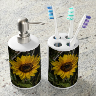 Sunflower Soap Pump and Toothbrush Holder