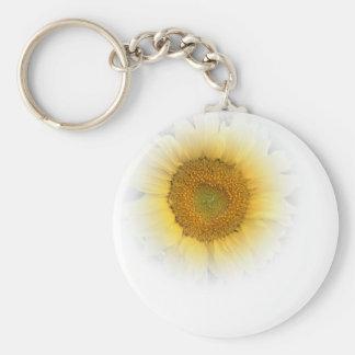 Sunflower Sonnenblume Basic Round Button Key Ring