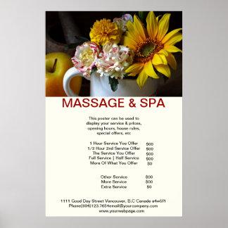 Sunflower Spa Massage Beauty Salon Poster