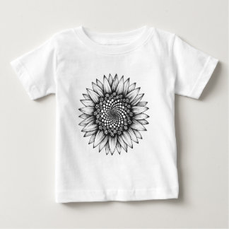 Sunflower spiral baby T-Shirt