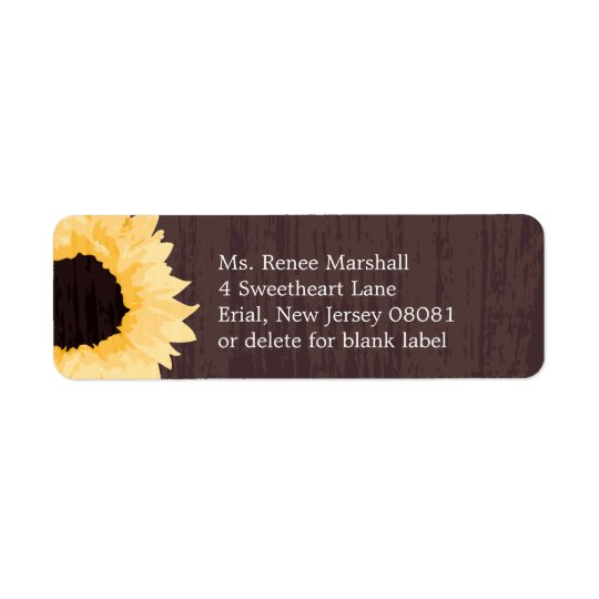 Sunflower Splendour | Return Address Return Address Label