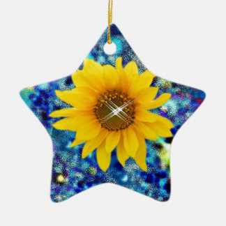 Sunflower spring Dazzle gifts Christmas Ornament