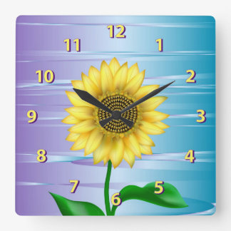 Sunflower Square Wall Clock