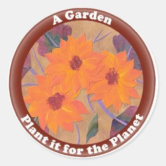Sunflower Stickers for Gardening