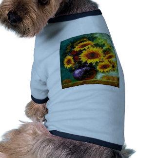 Sunflower Still Life Gifts by Sharles Dog Shirt