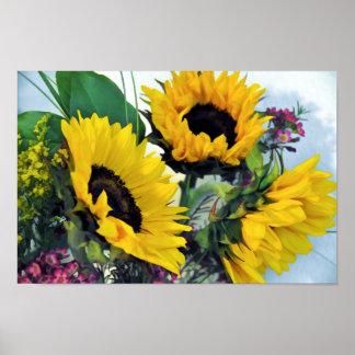 Sunflower Still Life Print